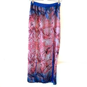 W118 Walter Baker | floral maxi skirt with slit